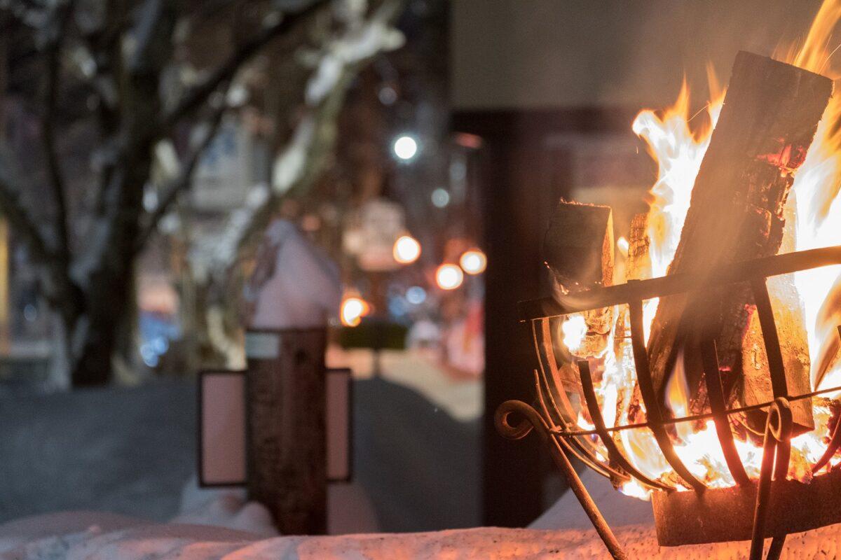 冬の夜祭り – Night time Chochin Illumination Street - 新田 民宿街