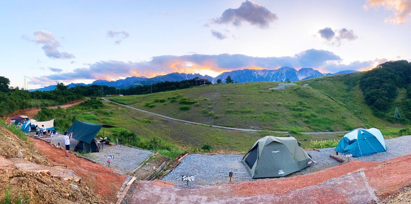 大自然の中の絶景キャンプ場
